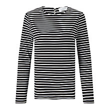 Buy Collection WEEKEND by John Lewis Zip Back Stripe Top Online at johnlewis.com