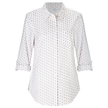 Buy John Lewis Posy Print Shirt, White/Pink Online at johnlewis.com