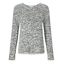 Buy Collection WEEKEND by John Lewis Chunky Knit Jumper, Black/White Online at johnlewis.com