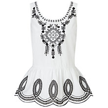 Buy Collection WEEKEND by John Lewis Evangeline Top, White/Black Online at johnlewis.com