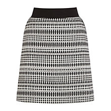 Buy Warehouse Pattern Geo Tweed Skirt, Black Online at johnlewis.com