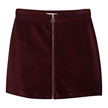 Buy Mango Zipped Cotton-Blend Skirt Online at johnlewis.com
