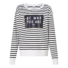 Buy Lorna Jane Lily Sweatshirt, Ink/White Stripe Online at johnlewis.com