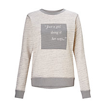Buy Lorna Jane Feel Good Sweatshirt, Grey Marl Speckle Online at johnlewis.com