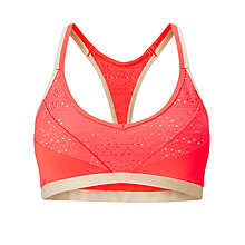 Buy Lorna Jane Beach Babe Bra, Fluro Orange/Nude Online at johnlewis.com