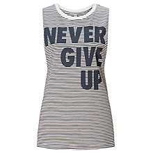 Buy Lorna Jane Montana Never Give Up Tank Top, Black/White Online at johnlewis.com