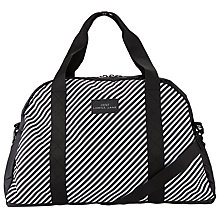 Buy Lorna Jane Stripe Gym Bag, Black/White Online at johnlewis.com