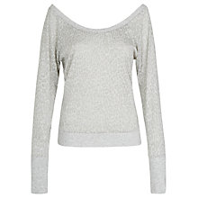 Buy Lorna Jane Twist It Long Sleeve Top, Grey Online at johnlewis.com