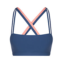 Buy Lorna Jane Cover Double Strap Sports Bra, Navy/Coral Online at johnlewis.com