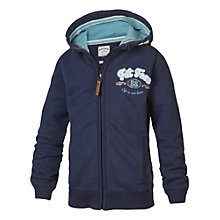 Buy Fat Face Girls' Heritage Zip Through Hoodie, Navy Online at johnlewis.com