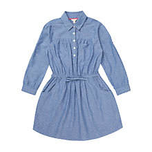 Buy Jigsaw Girls' Dobby Shirt Dress, Navy Online at johnlewis.com