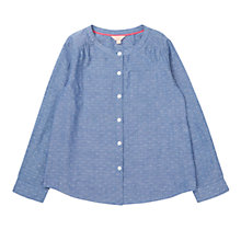 Buy Jigsaw Girls' Dobby Shirt, Navy Online at johnlewis.com