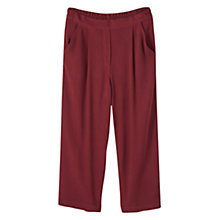 Buy Mango Cropped Trousers, Dark Red Online at johnlewis.com