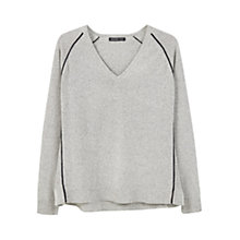 Buy Mango Flecked Cotton-Blend Jumper Online at johnlewis.com