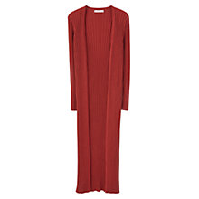 Buy Mango Ribbed Longline Cotton Cardigan Online at johnlewis.com