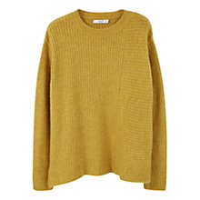 Buy Mango Side Slit Jumper, Green Online at johnlewis.com