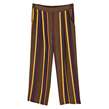 Buy Mango Striped Crop Trousers, Black Online at johnlewis.com