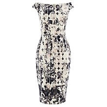 Buy Coast Mono Print Teegan Dress, Black/Ivory Online at johnlewis.com