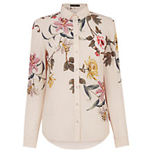 Buy Oasis Opium Placement Shirt, Neutral/Multi Online at johnlewis.com