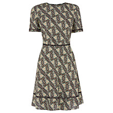 Buy Oasis Ditsy Skater Dress, Black/Multi Online at johnlewis.com