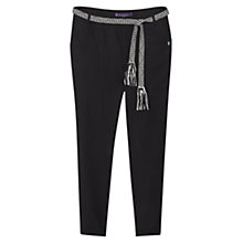 Buy Violeta by Mango Soft Fabric Cord  Trousers, Black Online at johnlewis.com
