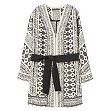 Buy Violeta by Mango Jacquard Belted Jacket, Multi Online at johnlewis.com