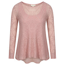 Buy Celuu Annabelle Jacquard Top, Pink Online at johnlewis.com
