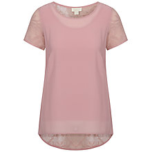 Buy Celuu Anita Lace Top, Pink Online at johnlewis.com