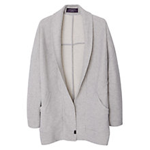 Buy Violeta by Mango Textured Cotton-Blend Jacket, Grey Online at johnlewis.com
