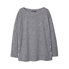 Buy Violeta by Mango Flecked Button Detail Sweatshirt, Grey Online at johnlewis.com