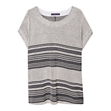 Buy Violeta by Mango Textured Sweatshirt, Grey Online at johnlewis.com