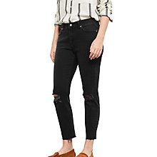 Buy Violeta by Mango Slim Fit Mariah Jeans, Open Grey Online at johnlewis.com