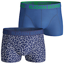 Buy Bjorn Borg Surface Trunks, Pack of 2, Blue Online at johnlewis.com