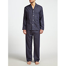 Buy Derek Rose Check Brushed Cotton Pyjamas, Navy Online at johnlewis.com