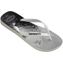 Buy Havaianas Hype Sea Print Flip Flops, Black/White Online at johnlewis.com