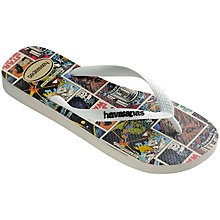 Buy Havaianas Star Wars Comic Flip Flops, Black/White Online at johnlewis.com
