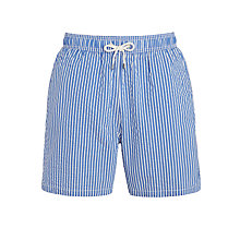 Buy Hackett London Stripe Swim Shorts, Blue Online at johnlewis.com