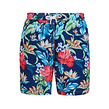 Buy Hackett London Hawaiian Swim Shorts, Multi Online at johnlewis.com