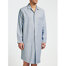 Buy Derek Rose Brushed Cotton Stripe Nightshirt, Blue/Yellow Online at johnlewis.com