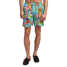 Buy Hackett London Tropical Flower Swim Shorts, Blue Online at johnlewis.com