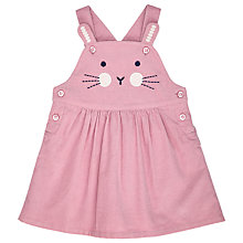 Buy John Lewis Baby Bunny Face Pinafore Dress, Pink Online at johnlewis.com
