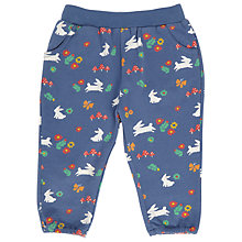 Buy John Lewis Baby Bee and Floral Harem Trousers, Navy Online at johnlewis.com