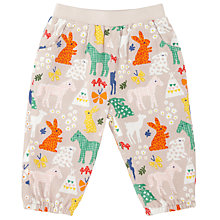Buy John Lewis Baby Horse Print Trousers, Cream/Multi Online at johnlewis.com