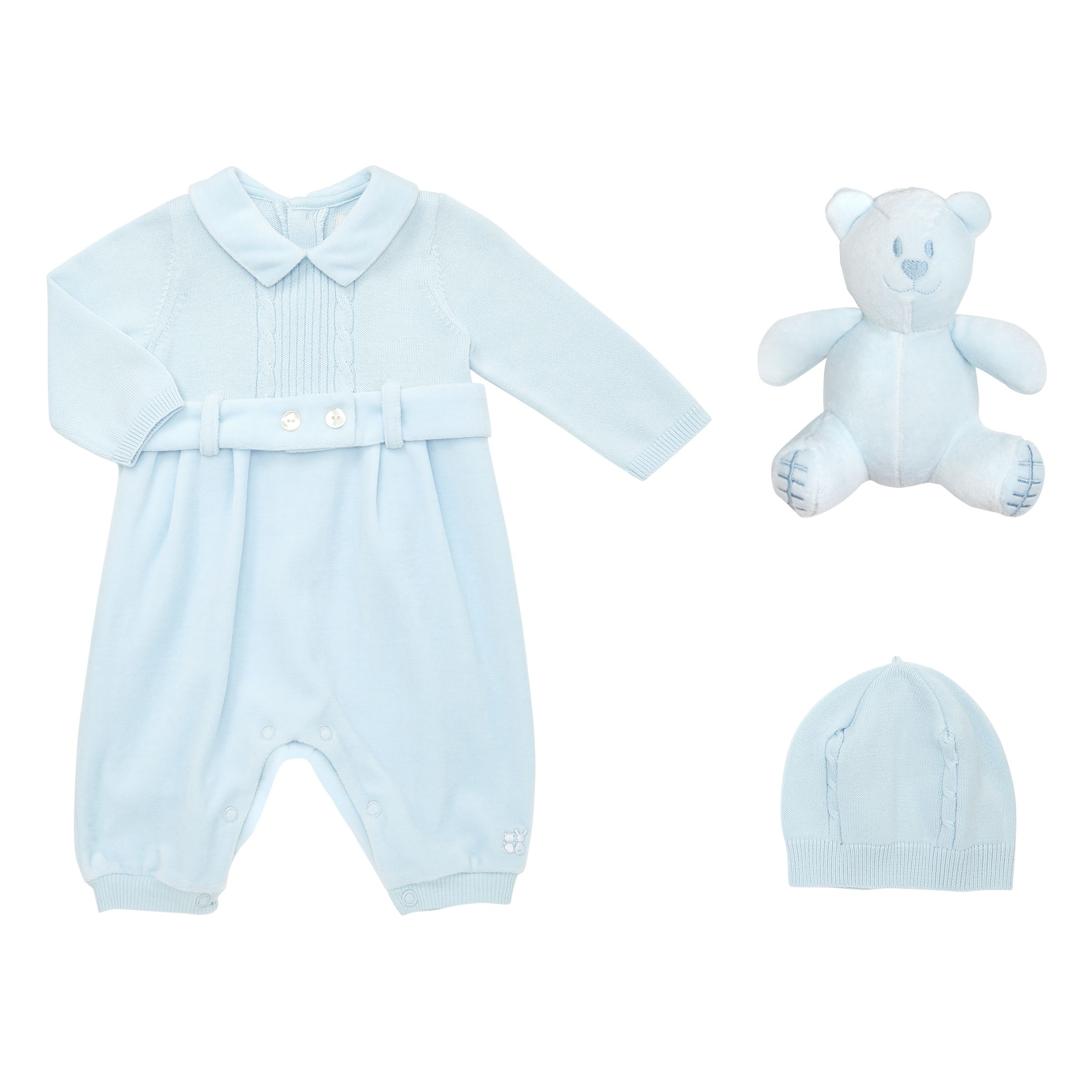 Emile et Rose Emile et Rose Baby Gatsby Romper And Hat Set