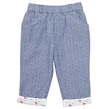 Buy John Lewis Baby Chambray Trousers, Blue Online at johnlewis.com