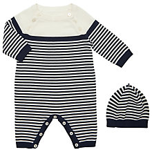 Buy Emile et Rose Baby Jake Sleepsuit And Hat Set, Navy Online at johnlewis.com