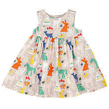 Buy John Lewis Baby Horse Print Dress, Cream/Multi Online at johnlewis.com
