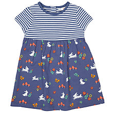 Buy John Lewis Baby Striped Rabbit Jersey Dress, Navy Online at johnlewis.com
