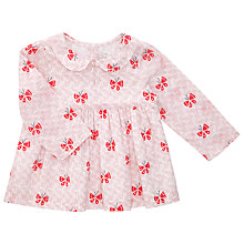 Buy John Lewis Baby Butterfly Woven Top, Pink Online at johnlewis.com