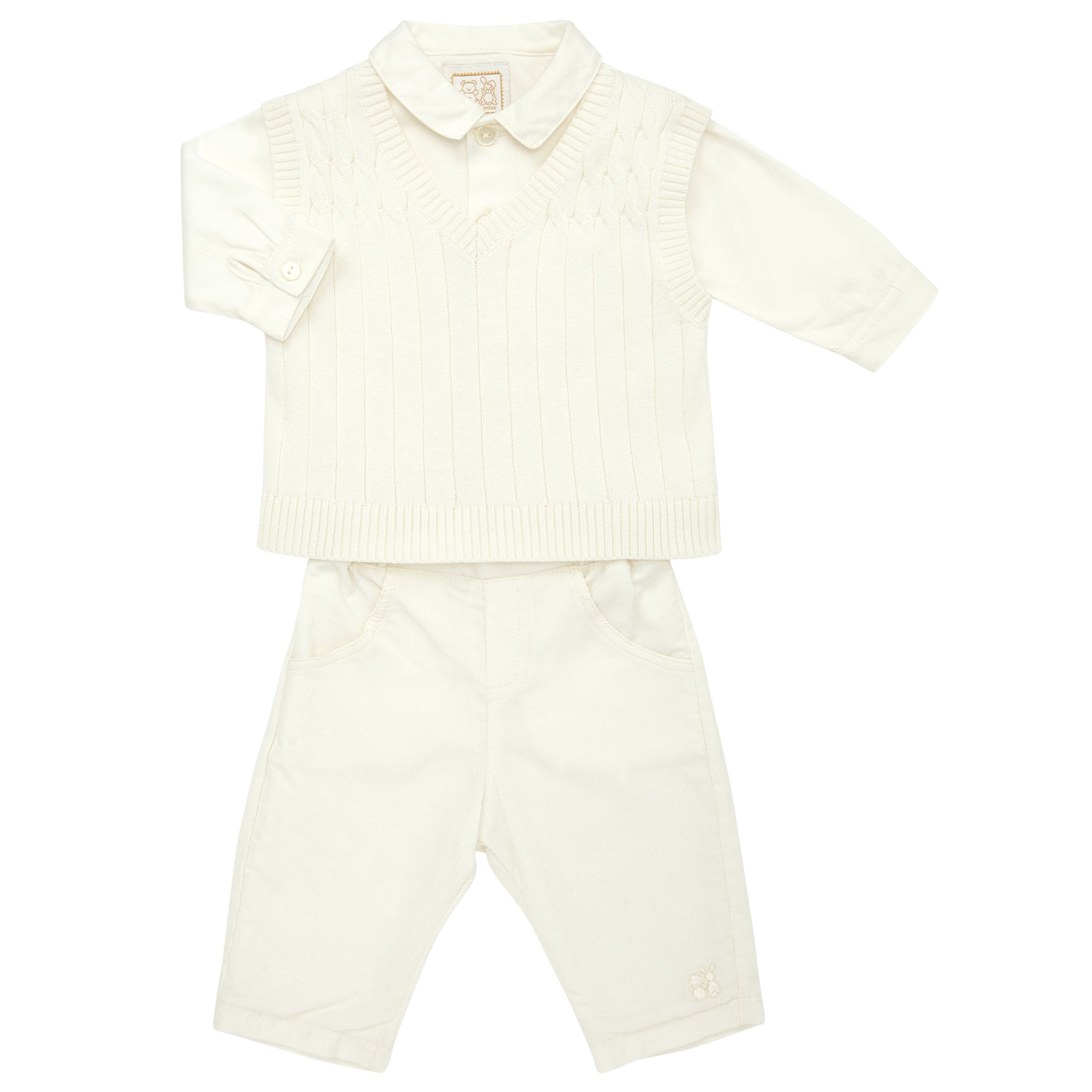 Emile et Rose Emile et Rose Baby Guliver Three Piece Set, Cream